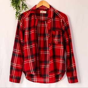 Lightweight Plaid Flannel Button Up